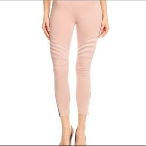 Pink Blush Dusty Rose Moto Leggings